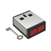 CQR-4 | Anti-theft push button with interlock via double selectable button as NC or NA