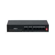 DAHUA-2646 | Switch comercial no gestionable (L2) 4 puertos Fast Ethernet PoE + 2 puertos Uplink Fast Ethernet.  AC100–AC240V