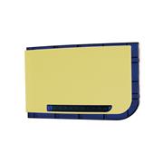 DEM-830 | Sirena de exterior amarilla con flash azul