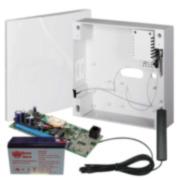 EBS-1 | Kit composé d'un émetteur GPRS avec boîtier, comprenant un transformateur, une batterie et une antenne.