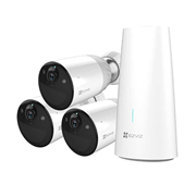 EZVIZ-28 | Kit de tres cámara WiFi IP EZVIZ de 2MP para exterior + estación base