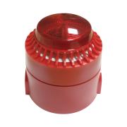 FOC-29 | Sirena de incendio para interior/exterior con baliza visual, 32 sonidos seleccionables, hasta 114 dB