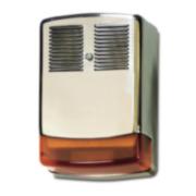 GE-63 | Sirena per esterni cromata auto-alimentata/ausiliare con lampeggiante Grado 3