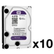 HDD-4TB-PACK10   Pack of 10 Western Digital® Purple HDD of 4 TB