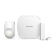 HIK-106 | HIKVISION AXHub kit composed by: 1x wireless control panel (32 zones) DS-PWA32HG, AX series, 1x double technology wireless detector PYRO-72 (KX10DP-WE), 1x wireless magnetic contact PYRO-48 (MC1MINI-WE)