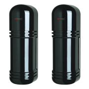 HIK-110 | Barrera HIKVISION de triple haz con frecuencia seleccionable. Alcance de 150 metros. Lente asférica de alto grado. Salida de alarma y támper antisabotaje. Aptas para exterior.