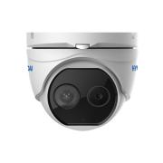 HYU-659 | Cámara domo térmica + visible Thermal-Line con iluminación IR de 15 m, para exterior