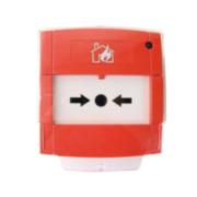 NOTIFIER-103   Pulsador de alarma direccionable, rearmable y con aislador de cortocircuitos.