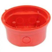 NOTIFIER-143 | Zócalo de color rojo para entrada de tubo visto con base incorporada para las gama de dispositivo óptico acústicos Analógicos (sirenas y flashes direccionables).
