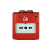 NOTIFIER-213 | Pulsador de alarma por rotura de cristal con contacto NA o NC, de color rojo para sistemas convencionales.