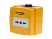 NOTIFIER-234 | Pulsador amarillo KAC de disparo de extinción manual rearmable con tapa de protección