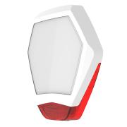 TEXE-25 | Cubierta frontal Odyssey X3 en color blanco/rojo para base de sirena retroiluminada de exterior Odyssey X-B