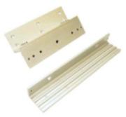 """CONAC-387   Support en aluminium en """"Z"""" ajustable destiné aux systèmes de retenue électromagnétiques de 300 kg"""