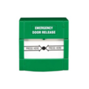 CONAC-704 | Resettable green emergency pushbutton suitable for emergency exit doors.