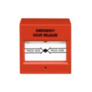 CONAC-706   Pulsante di incendio rosso  reiniziabile adeguato per porte di uscita di emergenza.