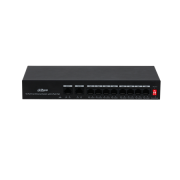 DAHUA-2647 | Commercial unmanageable switch (L2) 8 ports Fast Ethernet PoE + 2 ports Uplink Fast Ethernet