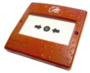 DEM-1009 |  Alarm push (break glass type) in red, designed for outdoors