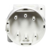 FOC-588   Caja trasera a prueba de salpicaduras y con fijación segura para los detectores Hochiki de la gama marina y bases de montaje. Color marfil.