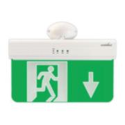 FOC-639 | Segnale di uscita di emergenza per montaggio in soffitti o pareti linea EXIDUS