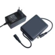 SAM-3542N | SAI miniatura para cámaras de CCTV compuesto por cargador 220V CA / 12,6V CC, 2A con regulación de carga (especial para Li-ION) y batería de Li-ION con conectores entrada/salida