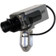 SAM-993   caméra CCD simulée. caméra simulée imitant une conventionnelle, avec del, support et câbles y compris