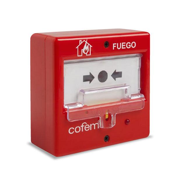 COFEM-32 | Pulsador alarma incendios rearmable para sistema convencional de detección de incendios