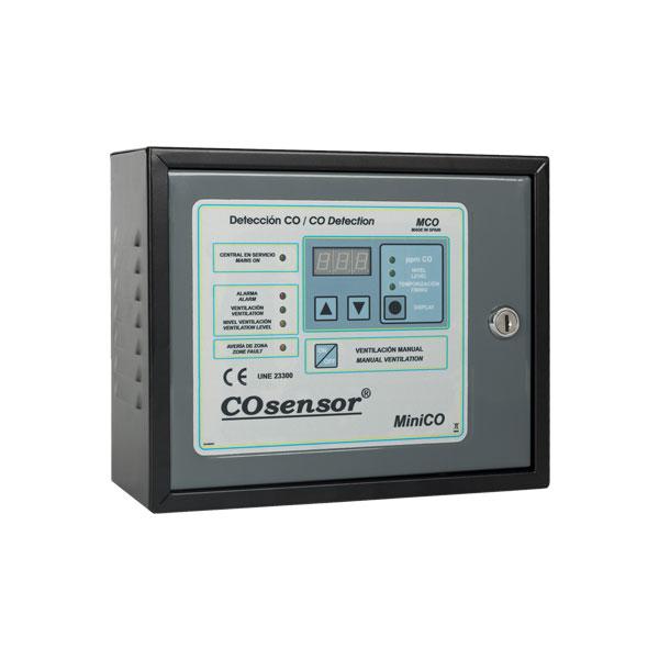 COFEM-37 | Central convencional COsensor MiniCO de detección de monóxido de carbono de 1 zona y 10 detectores