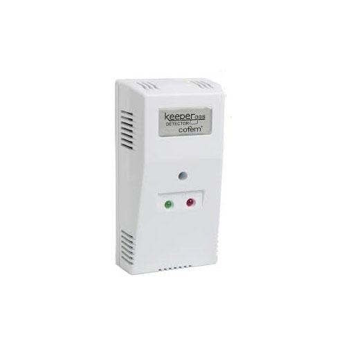 COFEM-56 | Detector de gas COFEM para uso doméstico, autónomo, con posibilidad de conexión a la red eléctrica (220-230V) ó 12V DC, con indicador de funcionamiento, que emite una señal óptica y acústica en caso de alarma