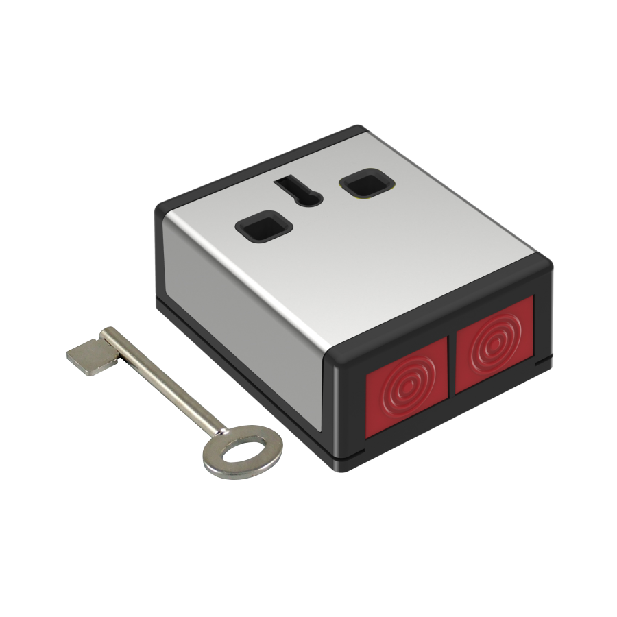 CQR-4 | Pulsador antiatraco con enclavamiento mediante doble botón seleccionable como NC o NA
