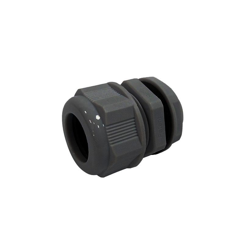 DAHUA-2176 | Pieza pasacable en color negro con prensaestopas compatible con DAHUA-230 (PFA121), DAHUA-225 (PFA122), DAHUA-214 (PFA123), DAHUA-1245 (PFA130-E), DAHUA-1754 (PFA13A-E) y DAHUA-579 (PFA138).