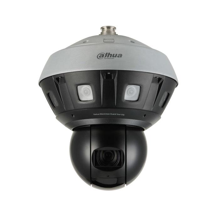 DAHUA-2204 | Domo motorizado IP Dahua STARLIGHT panorámico de 240°/seg., con ocho cámaras de óptica fija 2,8 mm + una cámara PTZ de zoom óptico 37X con Smart IR 220m para exterior