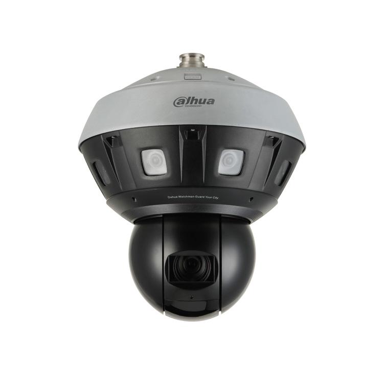 DAHUA-2244-FO | Domo motorizado IP Dahua STARLIGHT panorámico de 240°/seg., con cuatro cámaras de óptica fija 2,8 mm + una cámara PTZ de zoom óptico 37X con Smart IR 220m para exterior