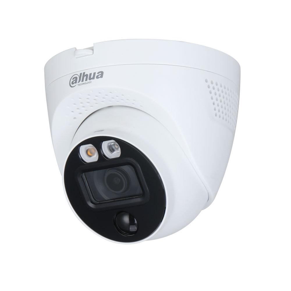 DAHUA-2707 | Domo fijo 4 en 1 Dahua Full-Color con disuasión activa iluminación blanca Smart de 40 m para exterior
