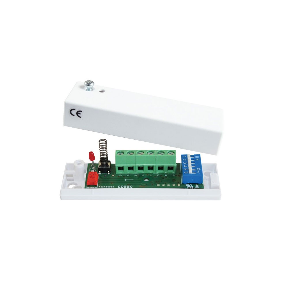 DEM-1277 | Detector inercial autónomo de vibracion para montaje en techos, paredes, marcos, ventanas, suelos y marcos de puertas