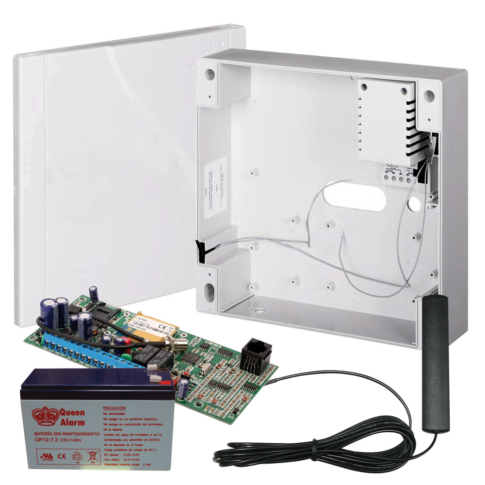 EBS-1 | Kit composed by GPRS transmitter with box, transformer included, battery and antenna.