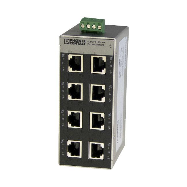 FOC-817 | Switch Ethernet de 8 puertos que se puede utilizar para dividir una red Ethernet y extender el cableado CAT.