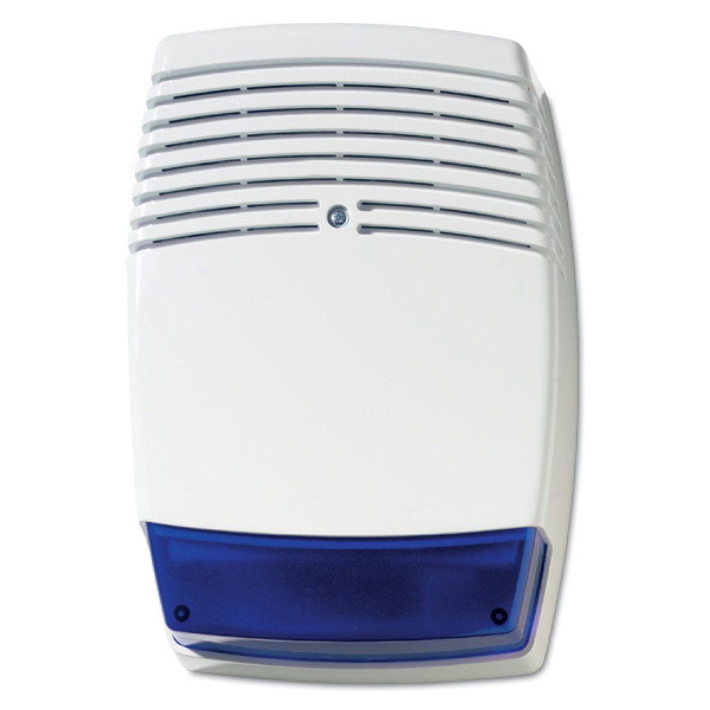 GE-4   Self-powered / auxiliary outdoor siren with Blue flashes Grade 3
