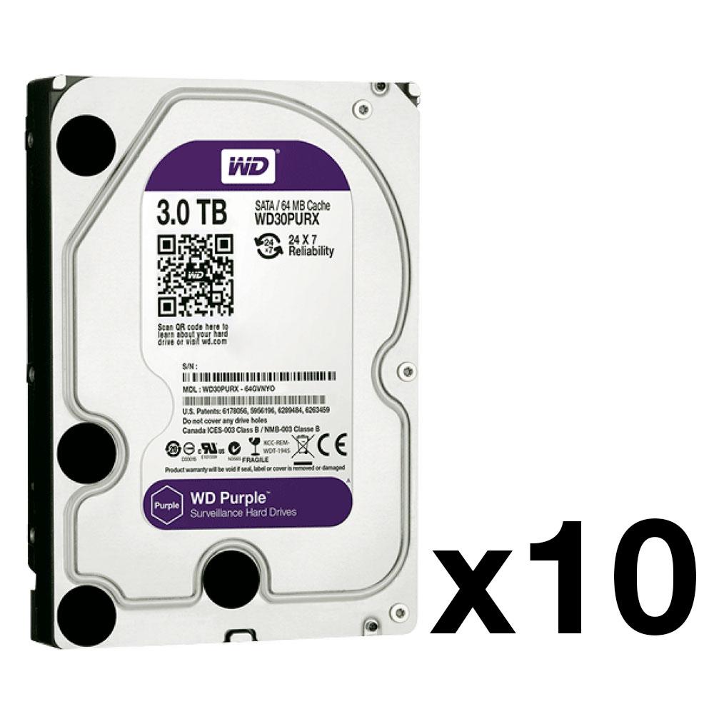 HDD-3TB-PACK10 | Pack de 10 disques durs de Western Digital® Purple