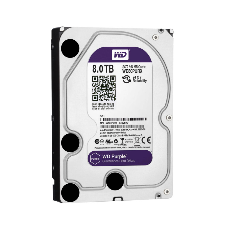 HDD-8TB | Western Digital® Purple hard drive