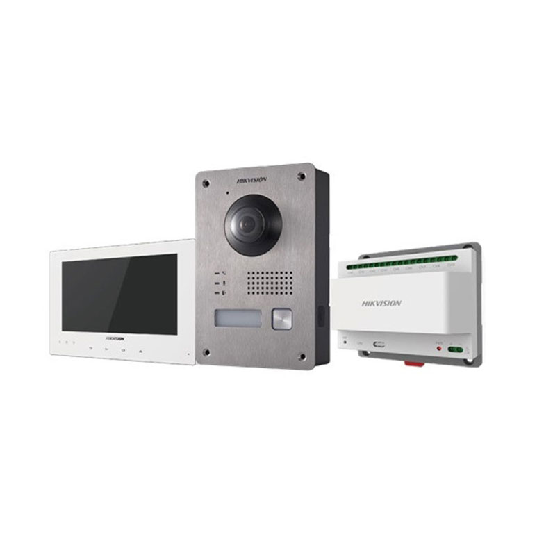 "HIK-116N | Outdoor two-wire video intercom kit + 7 ""two-wire monitor + Two-wire feeder with 9-channel interface."