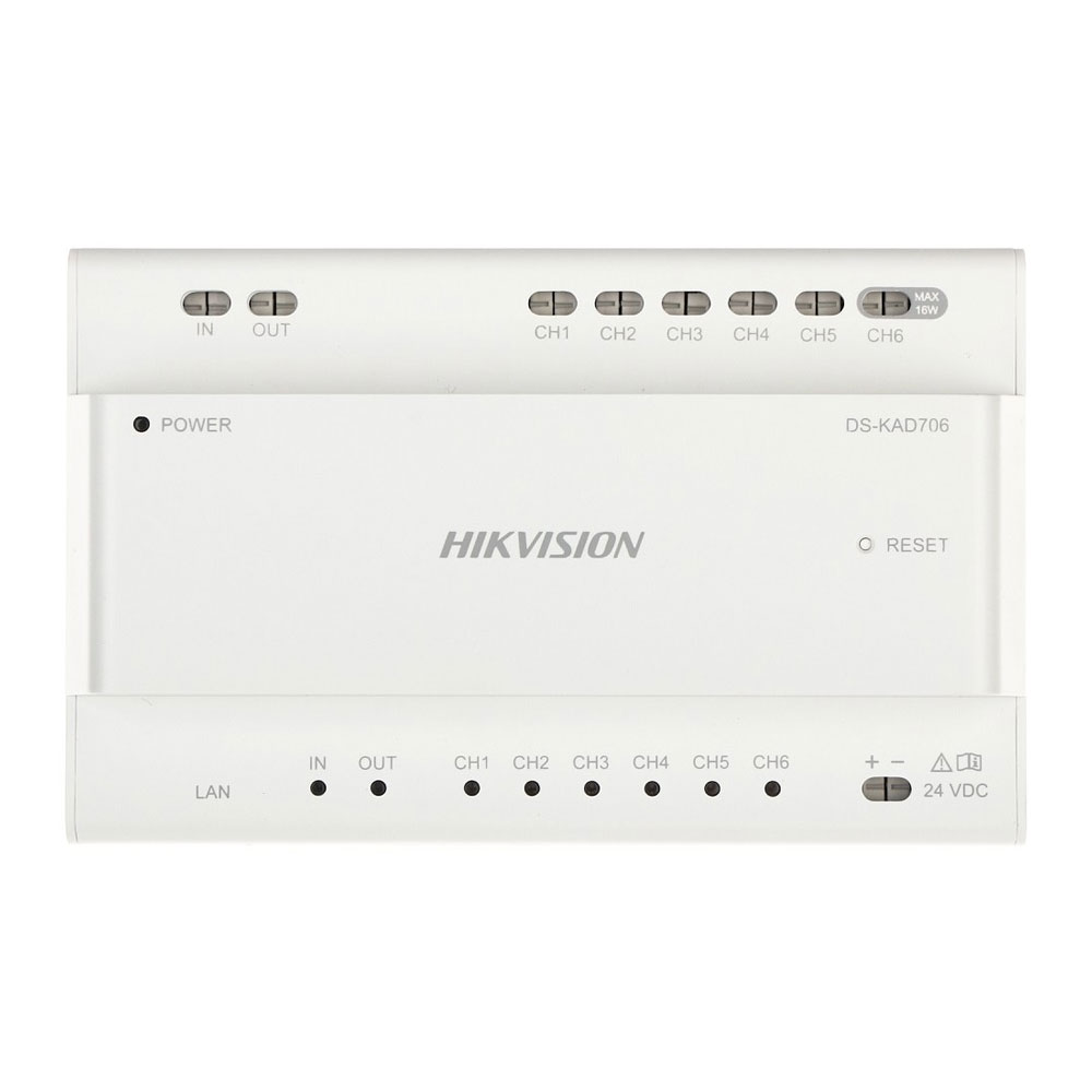 HIK-183 | Distribuidor de vídeo/audio hilos HIKVISION con 6 interfaces en cascada