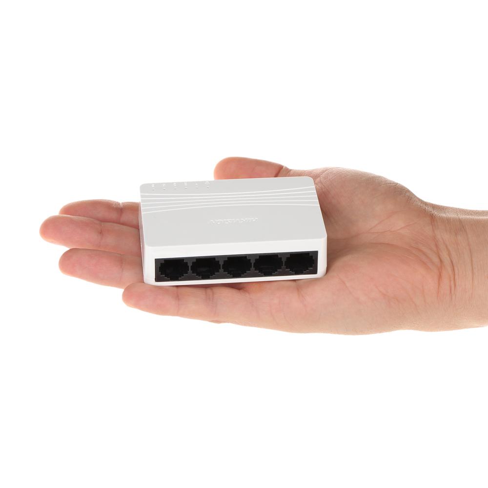 HIK-192   Switch Comercial HIKVISION de 5 puertos Fast Ethernet