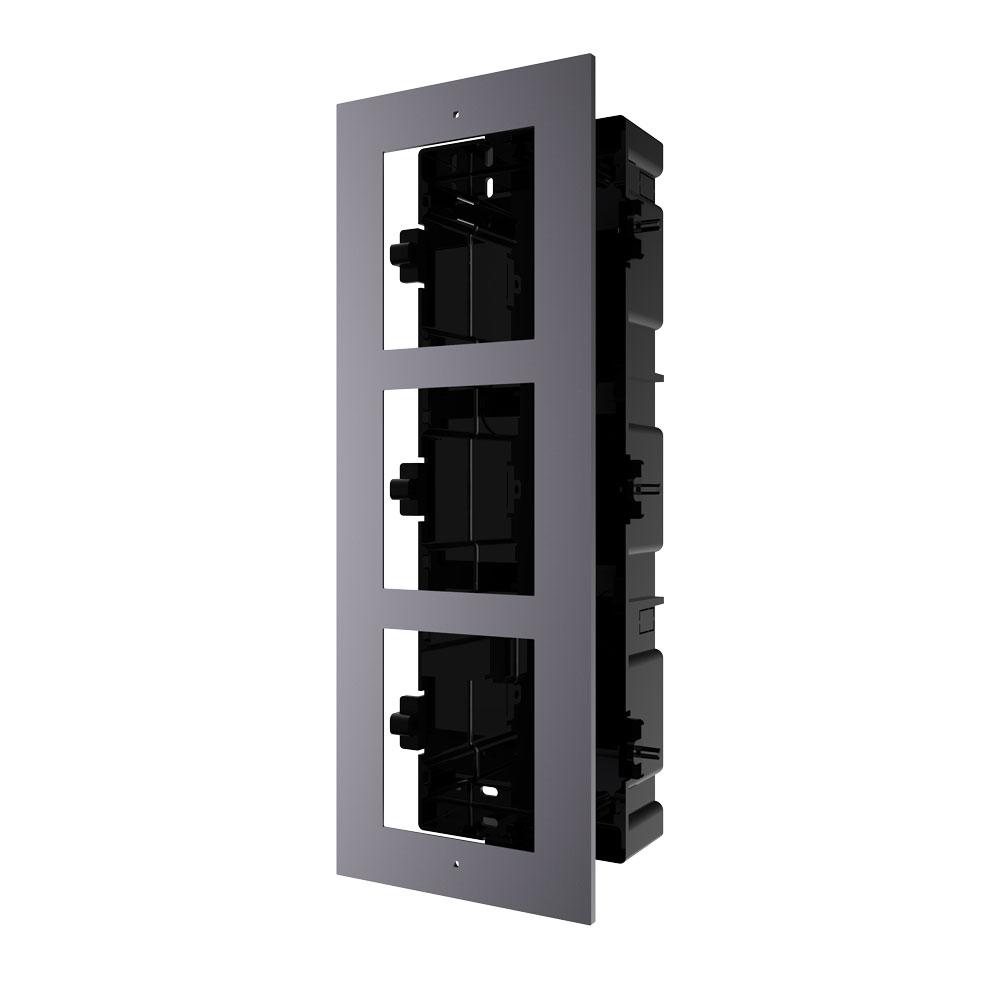 HIK-202 | Marco HIKVISION para instalar empotrado 3 módulos de sistema de videoportero.