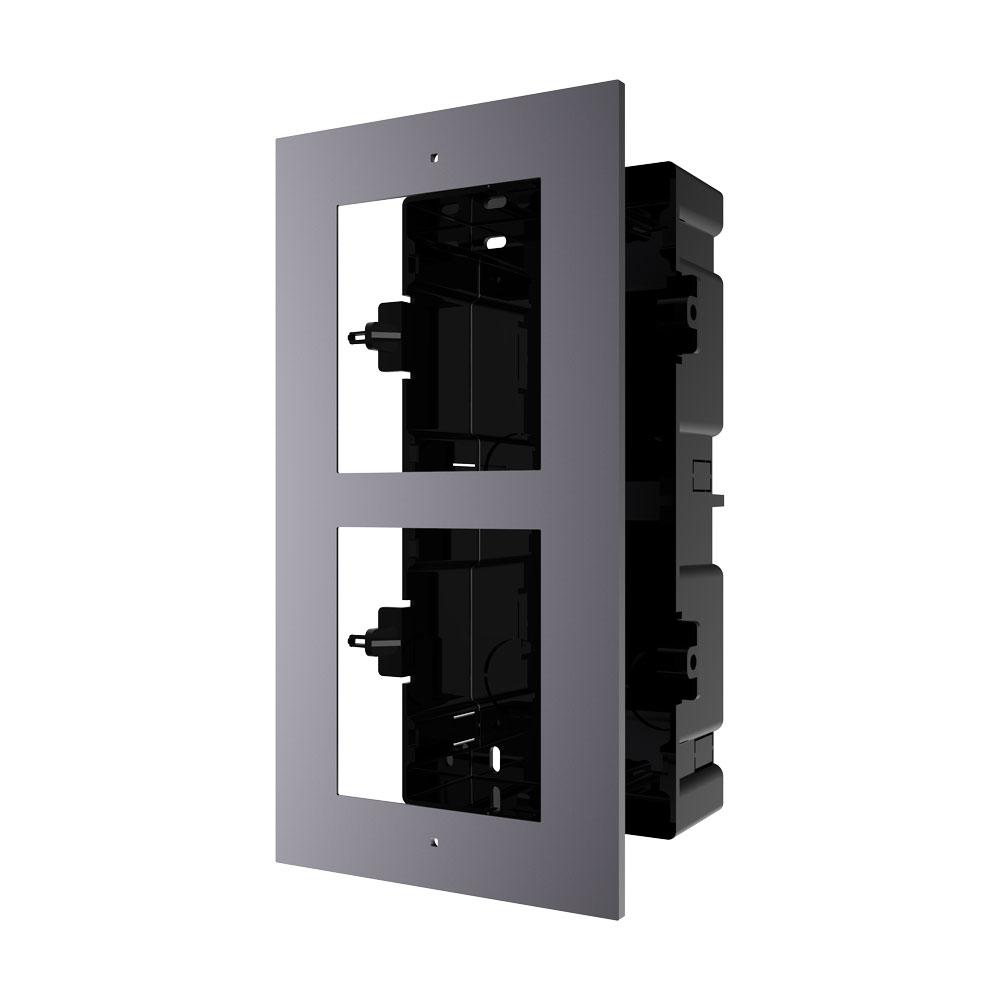 HIK-203 | Marco HIKVISION para instalar empotrados 2 módulos de sistema de videoportero.