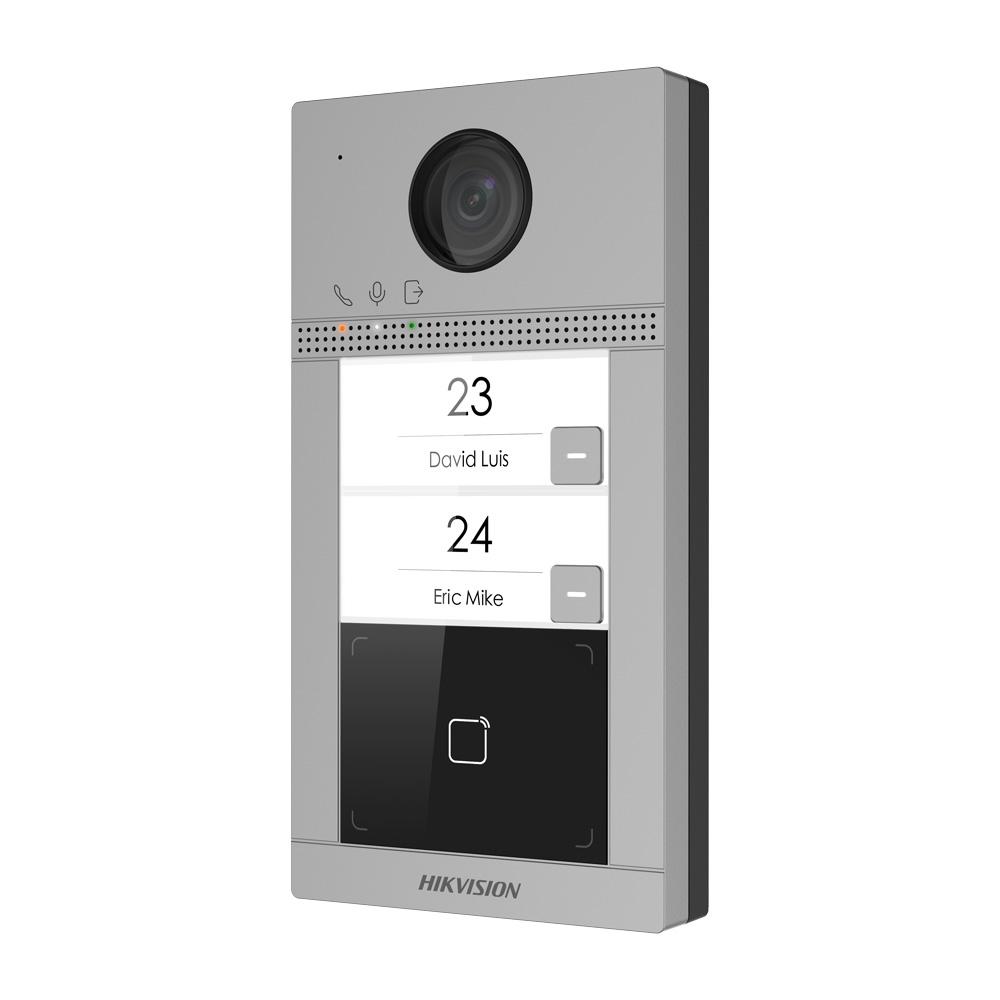 HIK-207 | Estación de videoportero IP HIKVISION con cámara de 2MP y dos puntos de llamada