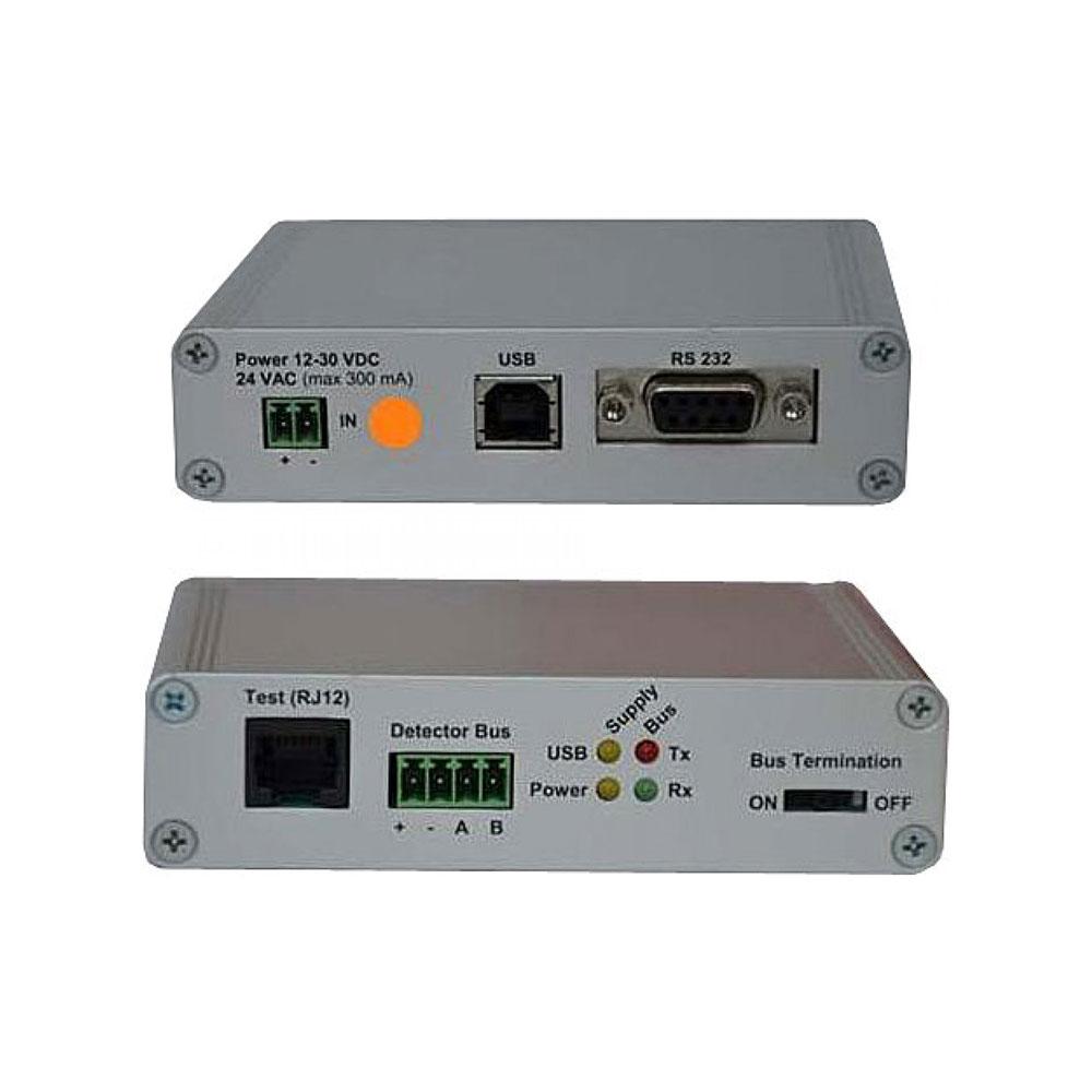 HONEYWELL-227   Módulo interfaz en caja para conectar detectores ADPRO con bus RS485 a un PC