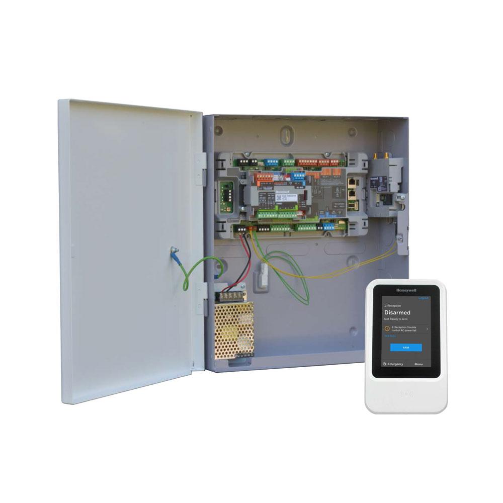 HONEYWELL-241 | Kit Honeywell MAXPRO compuesto por: 1x Central MPIP2000E de 8+2 zonas en placa ampliables a 60