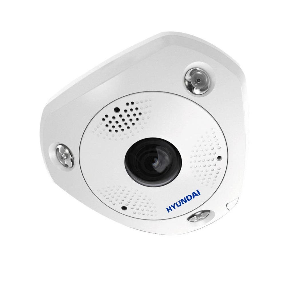 HYU-544 | Dome fisheye IP con illuminazione infrarossi 15m, antivandalico da esterno