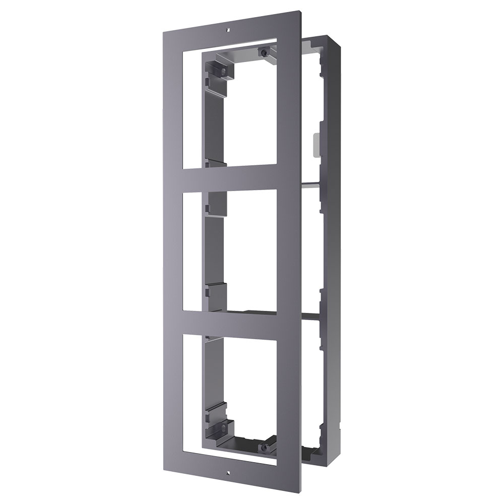 HYU-719 | HYUNDAI NEXTGEN framework for surface installation of 3 video door entry system modules.