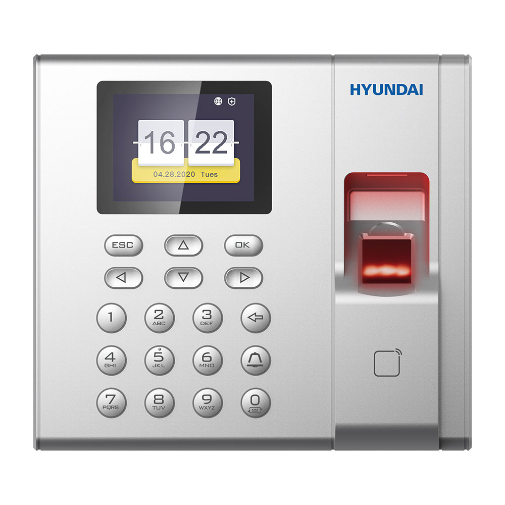HYU-730 | Standalone HYUNDAI Access Control and Presence terminal with biometric fingerprint reading and MIFARE card reader